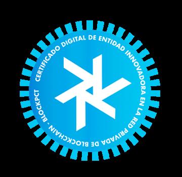 Arumani - Certificado digital de entidad innovadora en la red privada de Blockhain